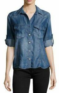 Bella Dahl Button Down Chambray Shirt Size XS